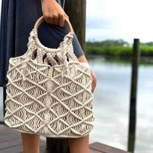 NWT Macrame bag shopping beach handmade
